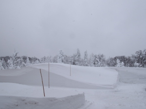 現場はやはりかなりの積雪…