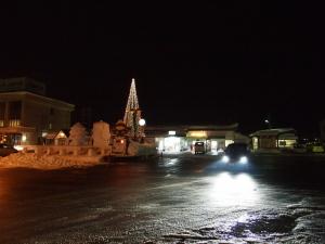 道路はてっかてかに凍ってます(^_^;)