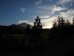こちらは岩手山…東北道から