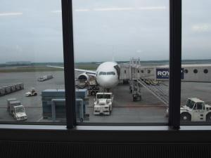 帰りはこの機で…