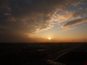 12/29の雨上がりの夕焼け…